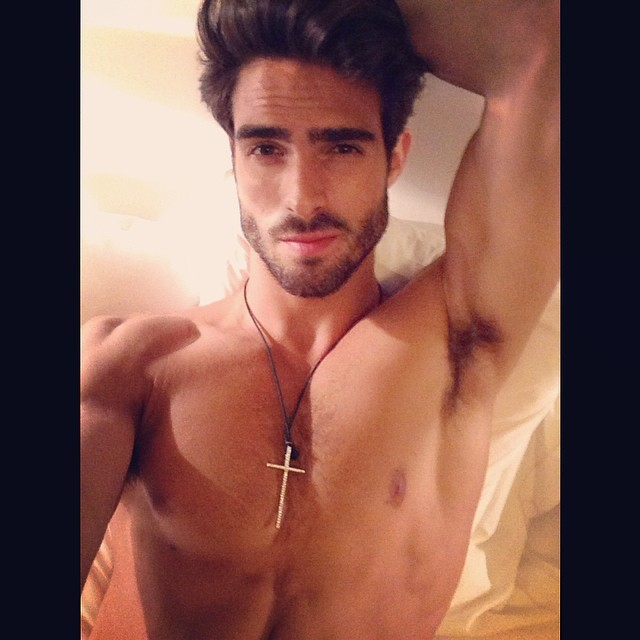 Juan Betancourt poses for a selfie