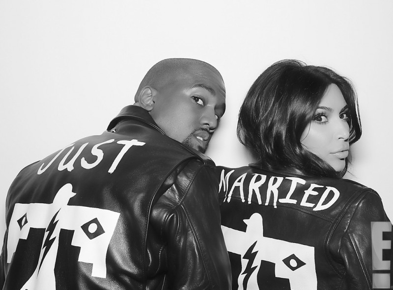 Kimye-Just-Married-Leather-Jackets