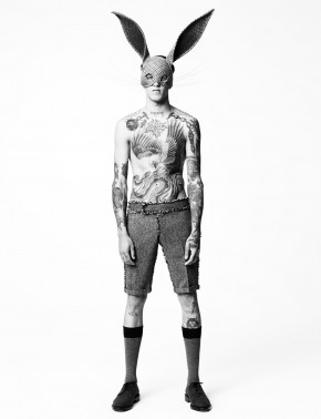 Miles Langford wears clothes from menswear nominee Thom Browne