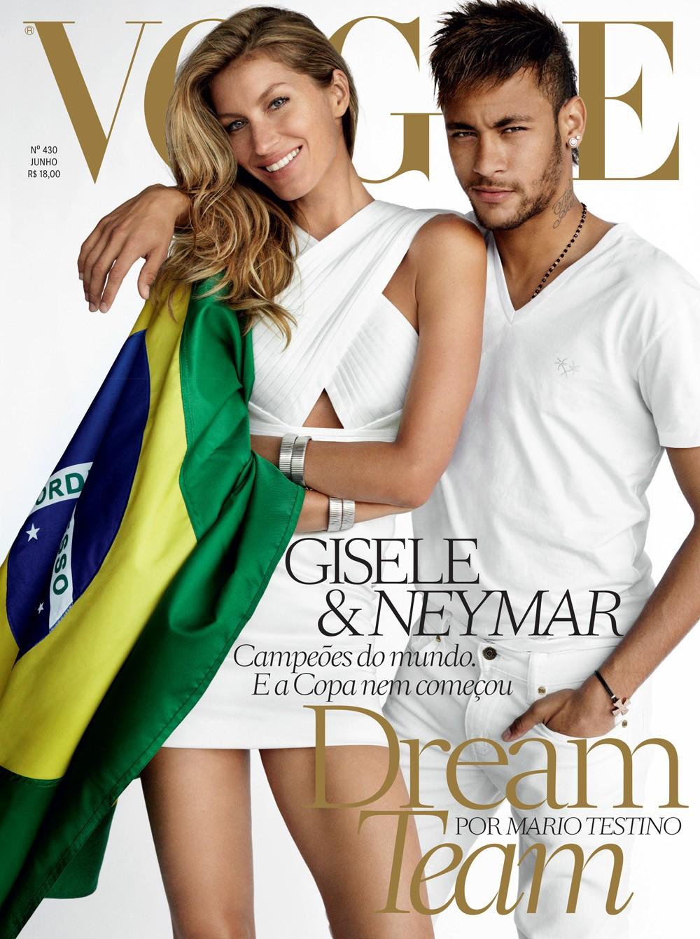 Neymar + Gisele Bündchen Cover Vogue Brazil