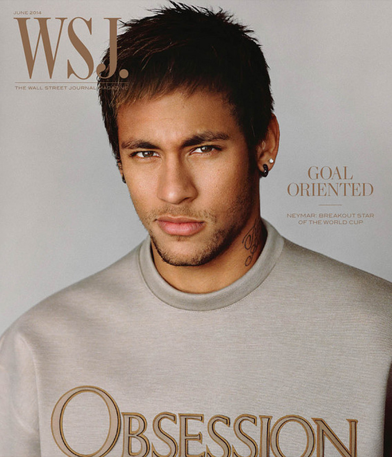 Neymar Covers WSJ Magazine in Calvin Klein Obsession Top