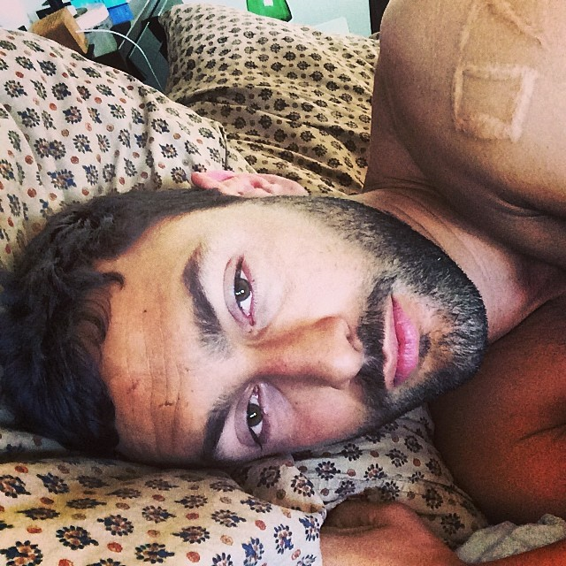 Just a lazy moment in bed from this top model. Noah Mills says hi!