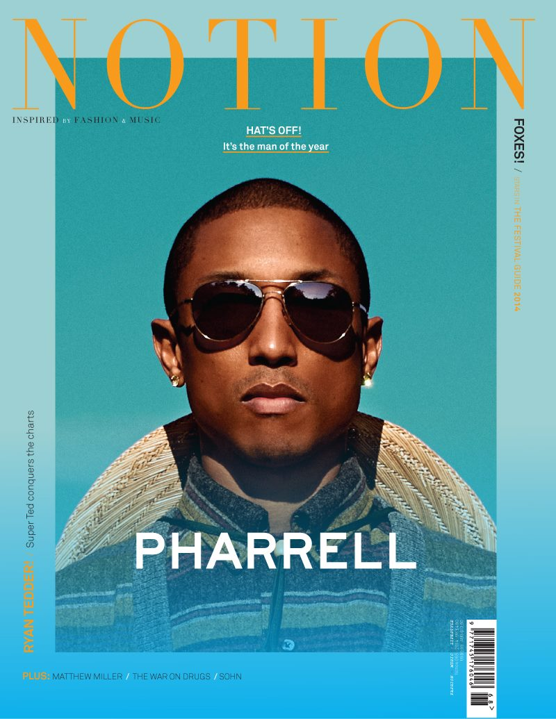 Pharrell Notion Magazine Cover