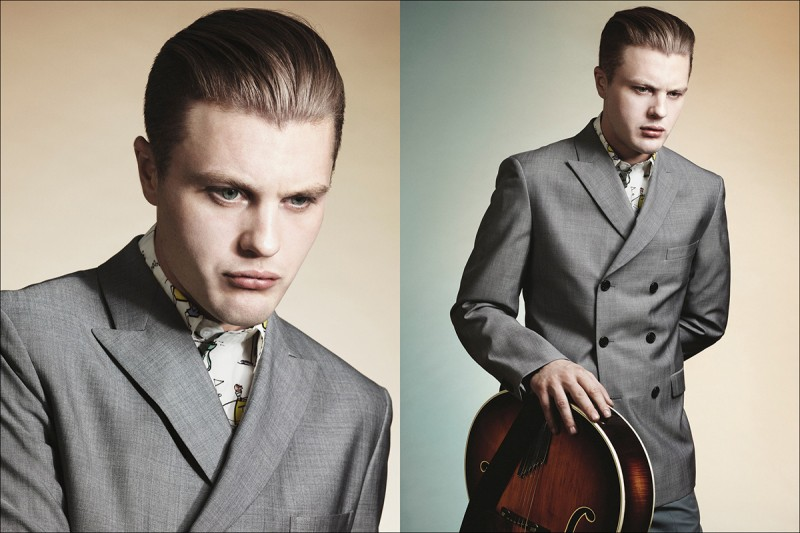 Actor Michael Pitt for Prada Men Spring/Summer 2012 Campaign