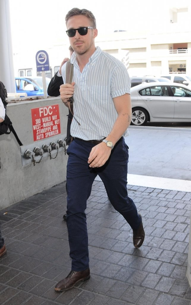 Ryan Gosling flies out of LAX, headed on his way to Cannes in great style