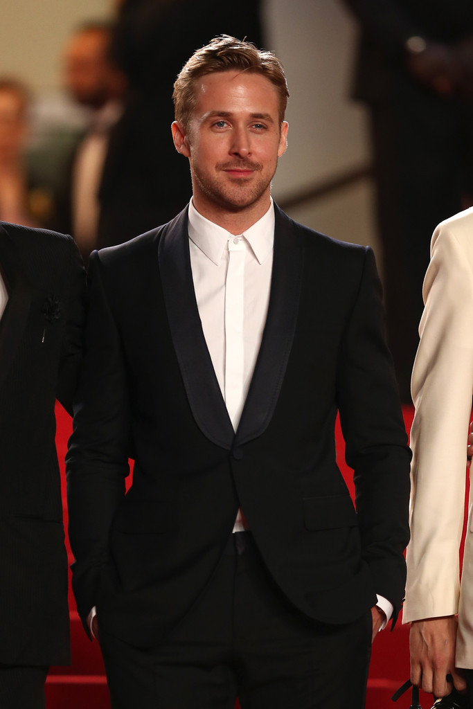 Ryan Gosling wears Gucci to the premiere of his directorial debut 'Lost River' during the 67th Annual Cannes Film Festival on May 20, 2014 in Cannes, France.