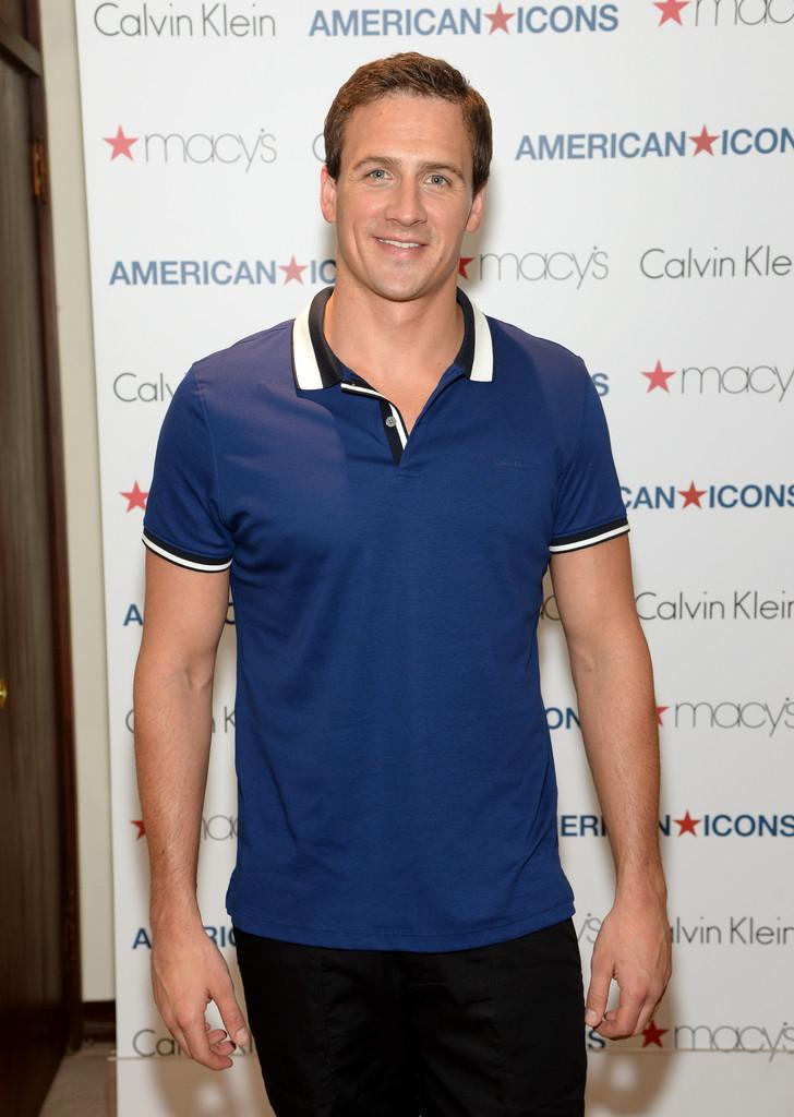 Ryan Lochte wears Calvin Klein White Label