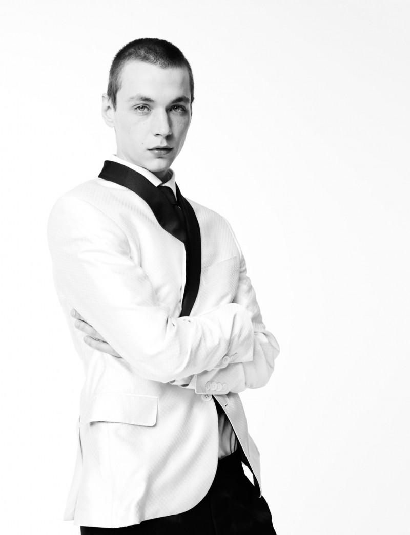 Yuri Pleskun wears clothes from Swarovski menswear nominee Todd Snyder