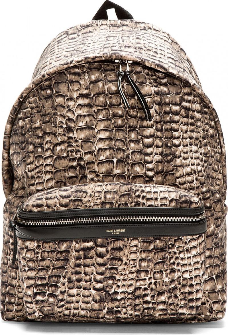 Saint Laurent Python Print Backpack
