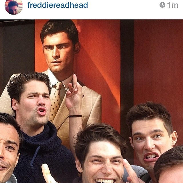 Sam Way, Danny Schwarz and more pose for an image poking fun at Sean O'Pry