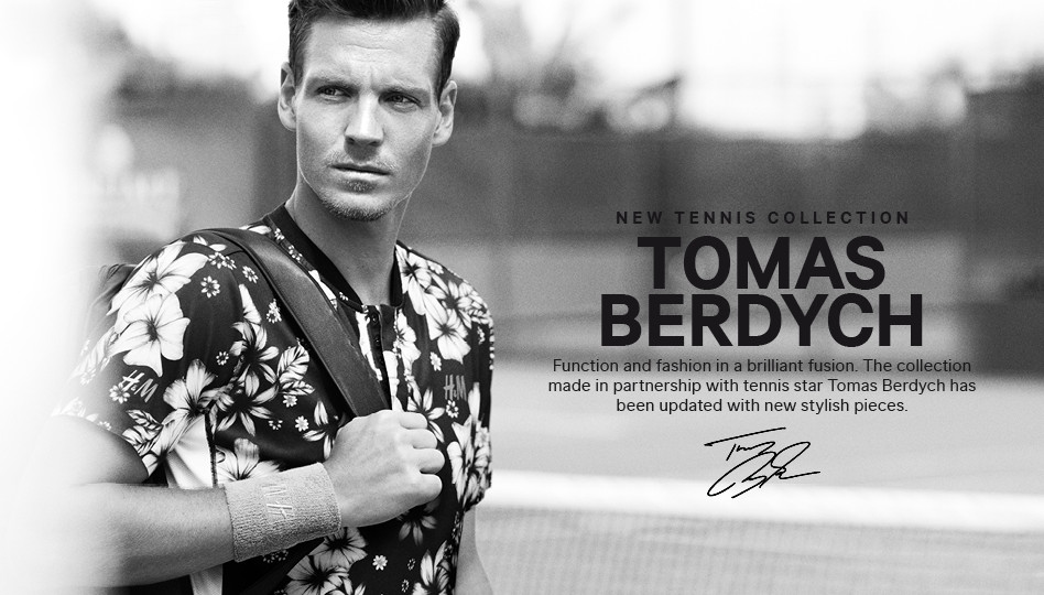 Berdych's collaboration with H&M is a hit on and off the court.