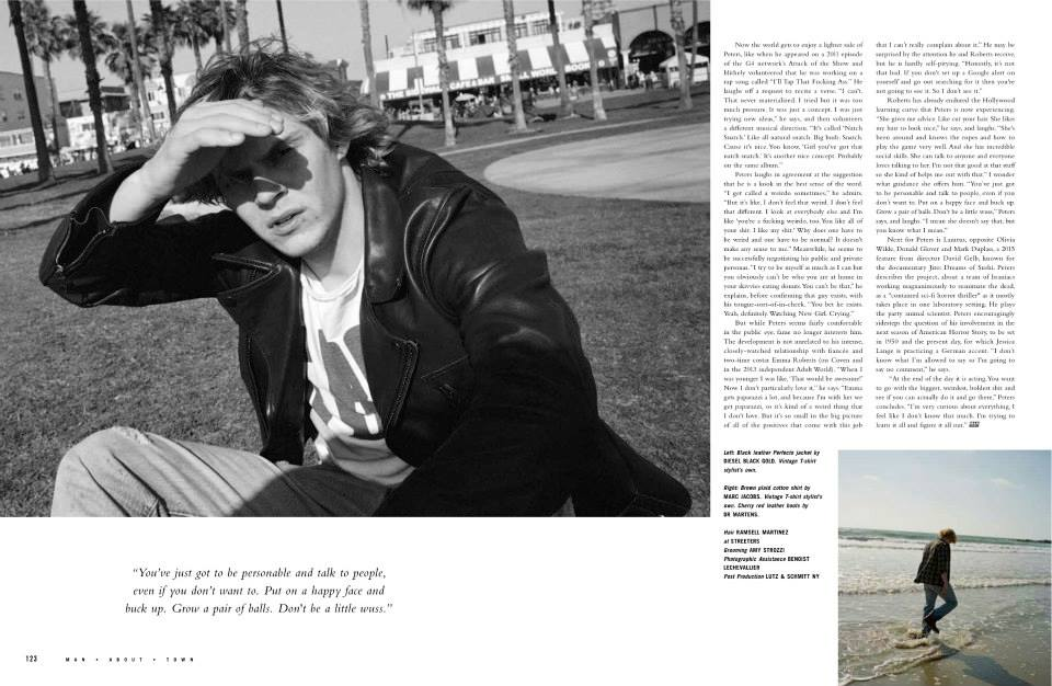 American Horror Story's Evan Peters for Man About Town