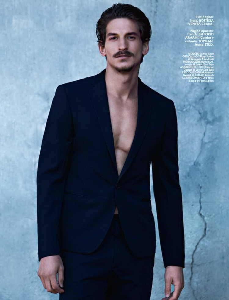 Jarrod Scott is a Stylish Rebel for Elle Man Mexico