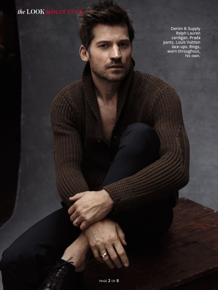 Nikolaj Coster-Waldau is a Man of Style for InStyle