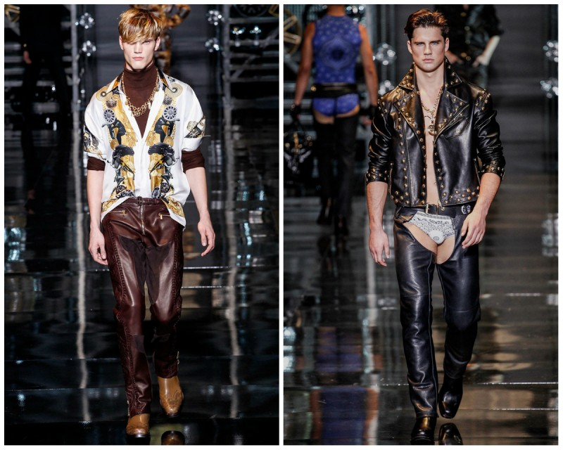 versace cowboy looks fall 2014