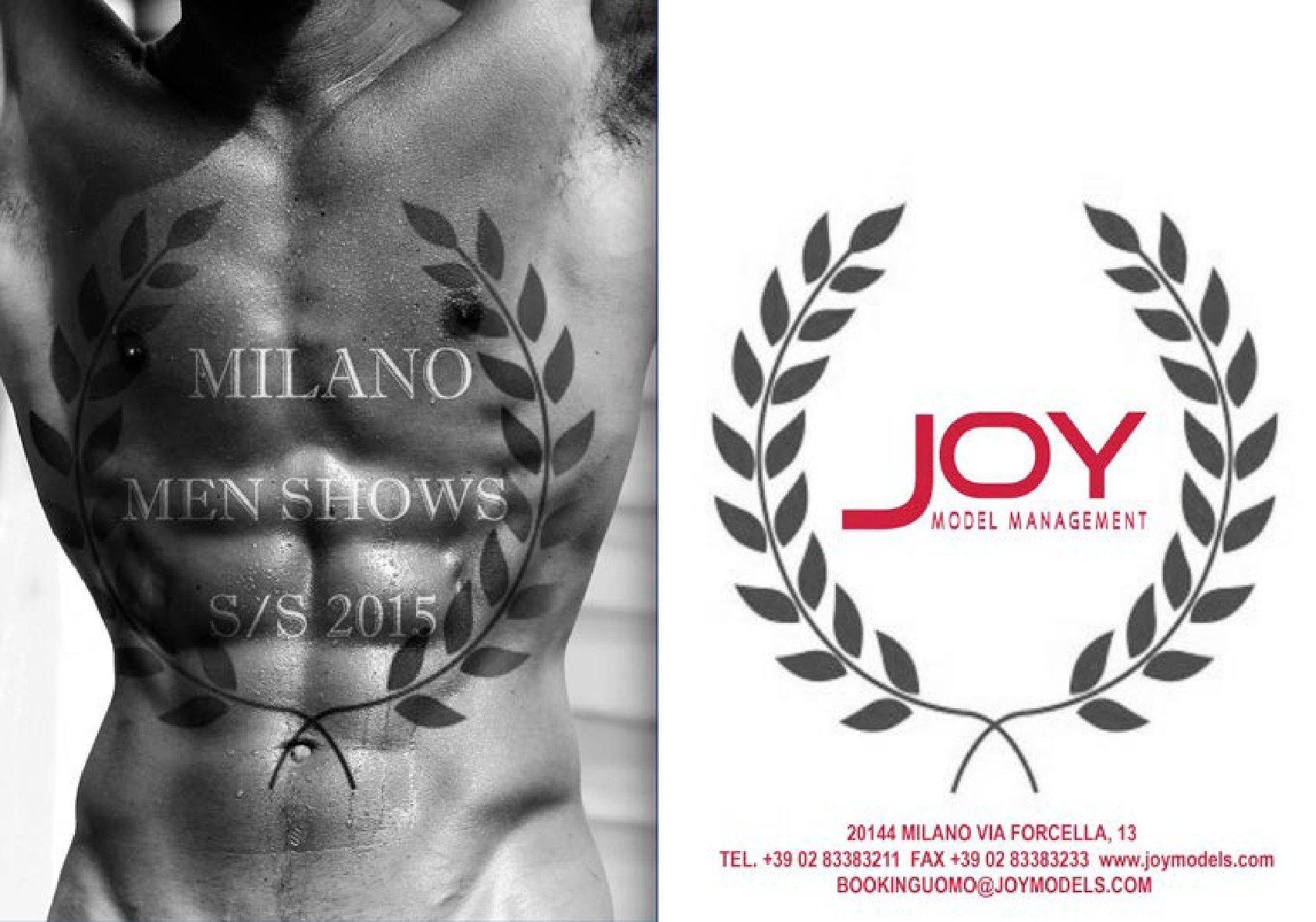 Joy Model Management Spring/Summer 2015 Show Package