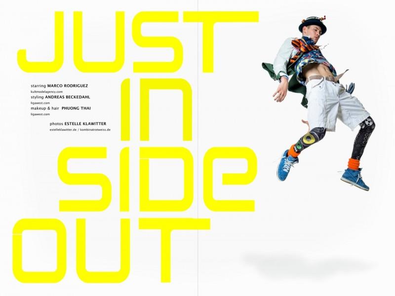 Marco wears jacket Manuel Ritz, sweater Adidas, shirt Ralph Lauren, t-shirt Scotch & Soda, shorts Golfhouse, leggings Zara, shoes and socks Nike, belt Diesel, hat Peru, tie Christian Dior.