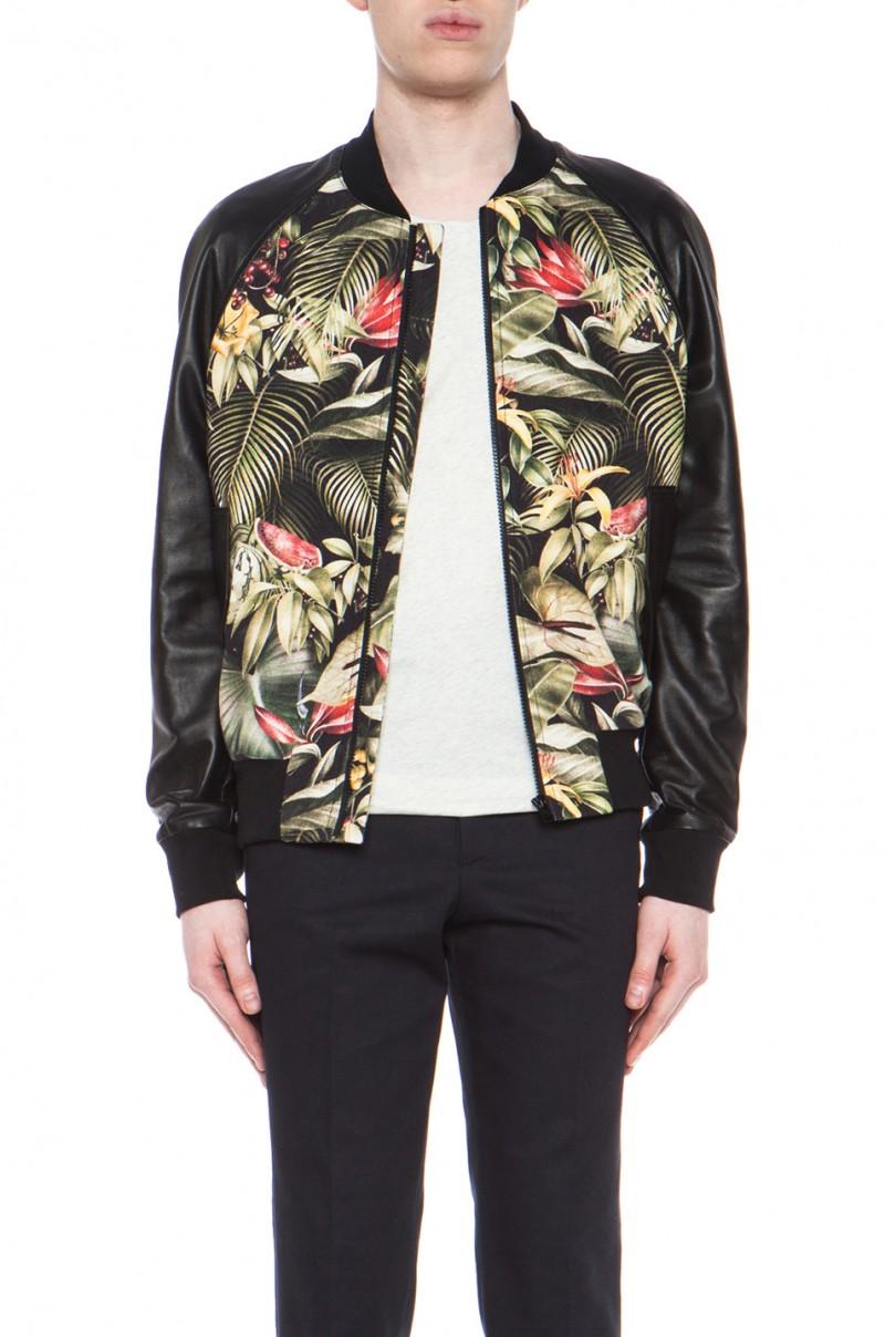 AMI botanical print bomber jacket $378 from Forward by Elyse Walker