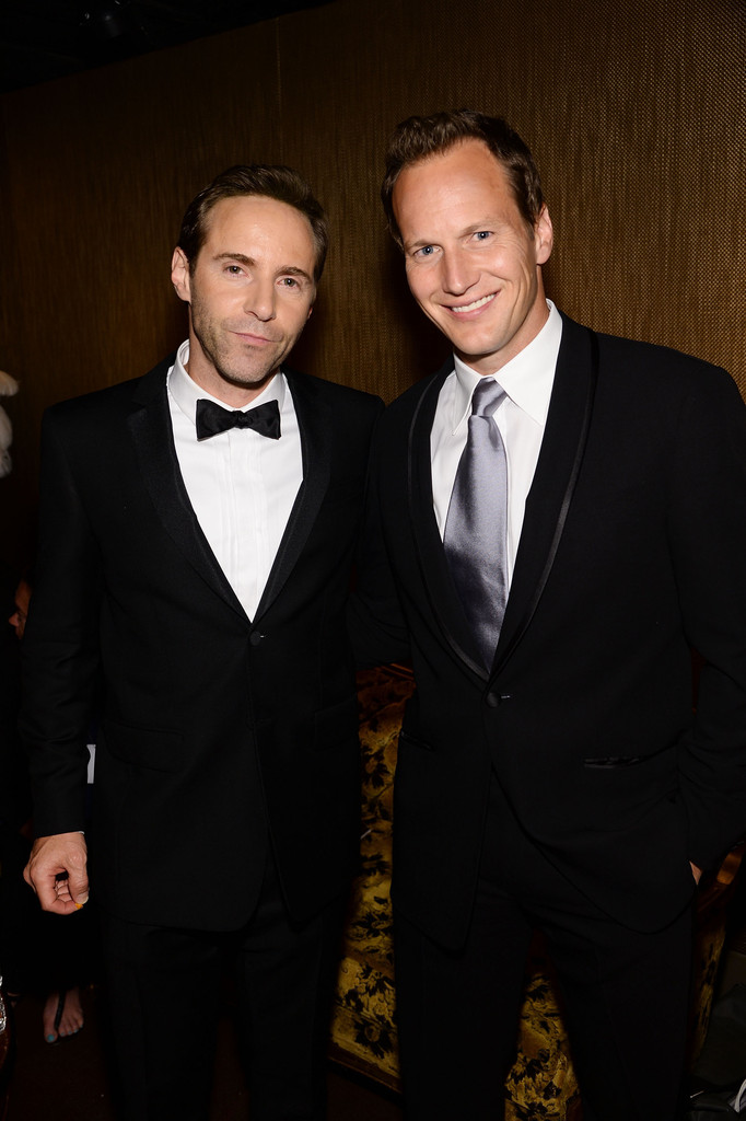 Actors Alessandro Nivola and Patrick Wilson pose for a chummy image backstage.