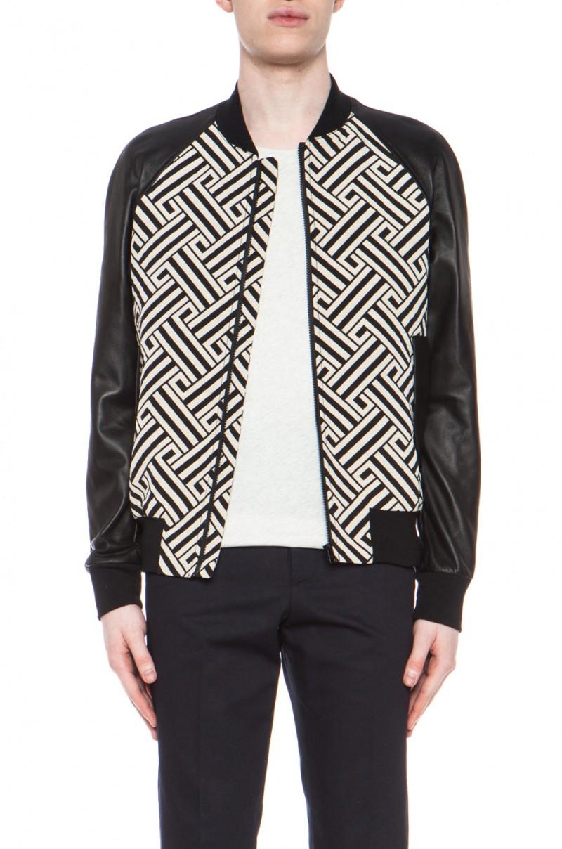 Ami Printed Cotton-Blend Bomber Jacket