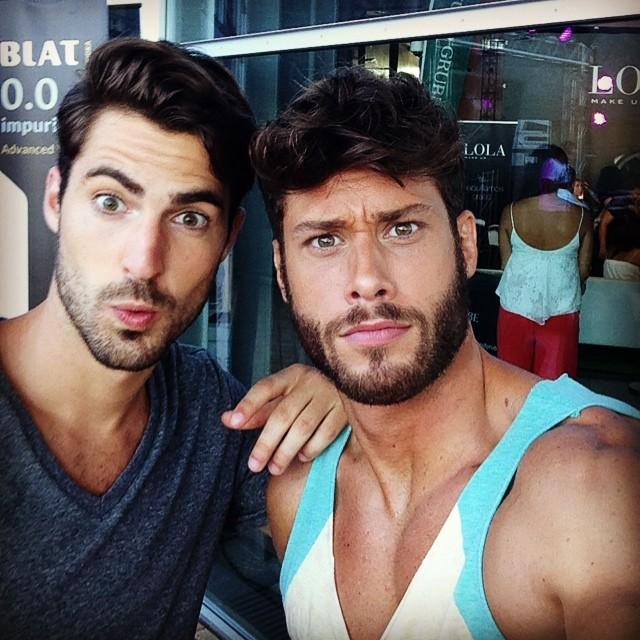 Antonio Navas and Jose Lamuno take a photo