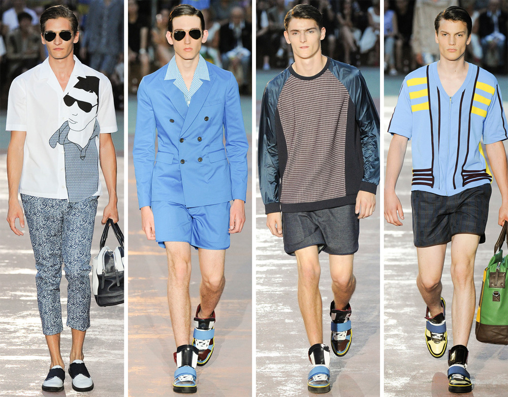 Antonio Marras Spring/Summer 2015: The designer championed the game of soccer, achieving a new casualness.