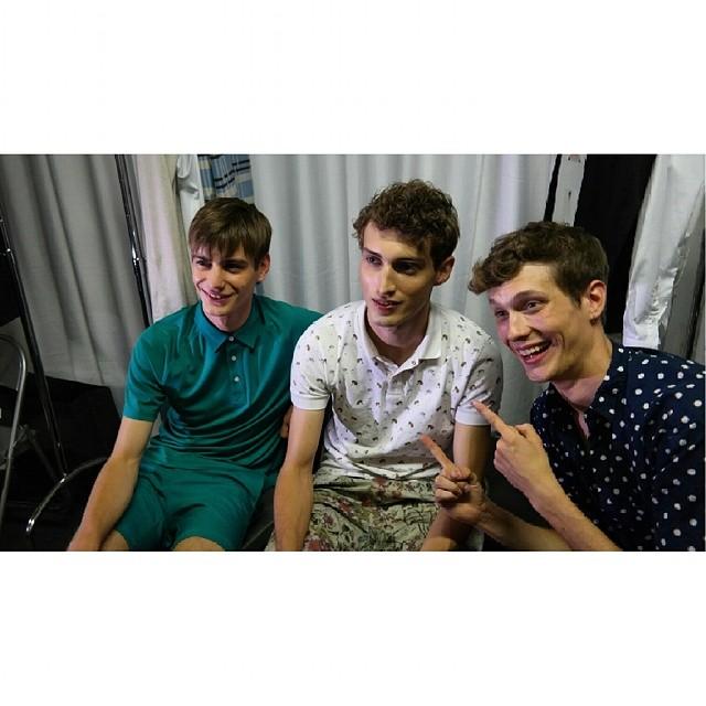 Ben Allen, Charlie France and Felix Gesnouin pose for a fun image.