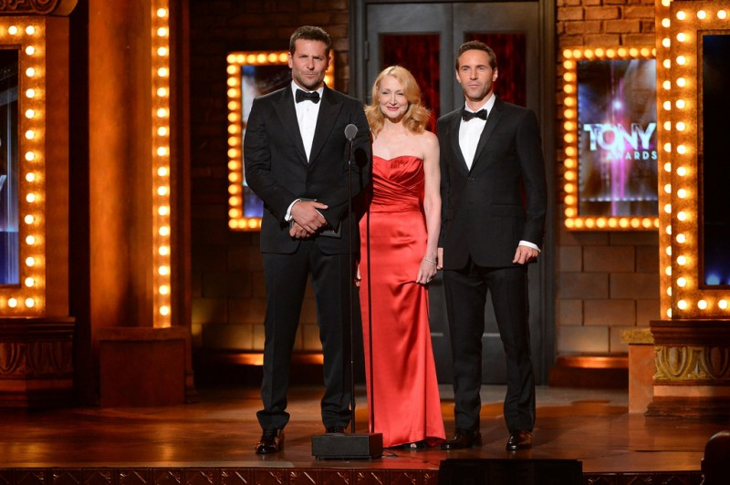Bradley Cooper, Patricia Clarkson and Alessandro Nivola present at the Tony Awards.