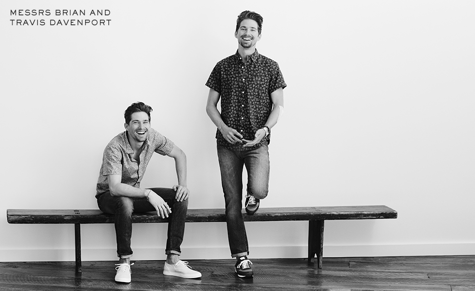 Mr Porter Spotlights Brothers Brian & Travis Davenport + More