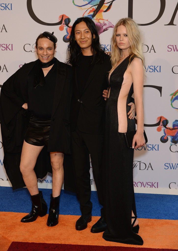 Comedian Chris Kattan, designer Alexander Wang and model Anna Ewers