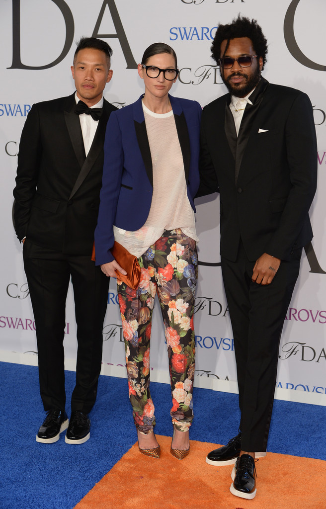 Public School designers Dao Yi Chow and Maxwell Osborne with J.Crew creative director Jenna Lyons