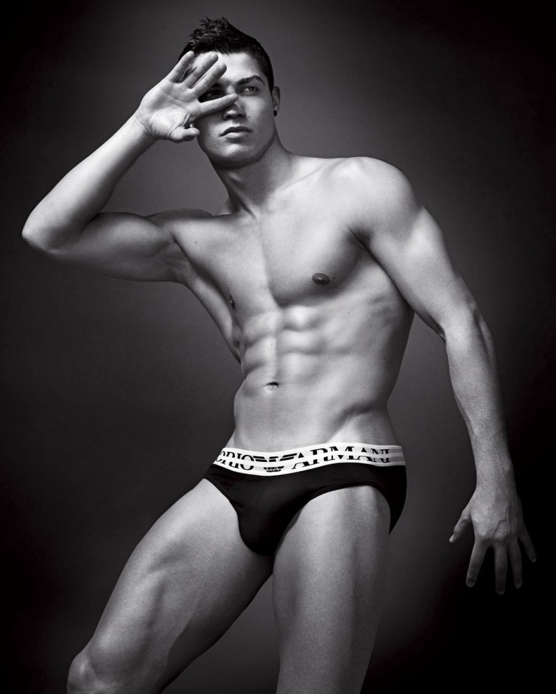 Footballer Cristiano Ronaldo poses for Emporio Armani Underwear ad
