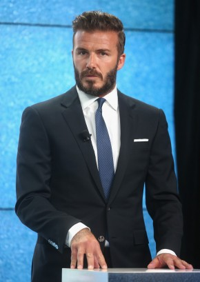 David Beckham at the launch of 'United for Wildlife' Campaign at Google Town Hall on June 9, 2014 in London, England.