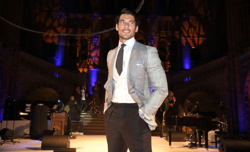 Model David Gandy wears Marks & Spencer