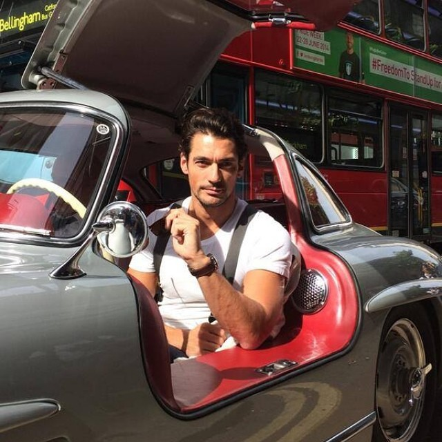 David Gandy is out and about test driving.