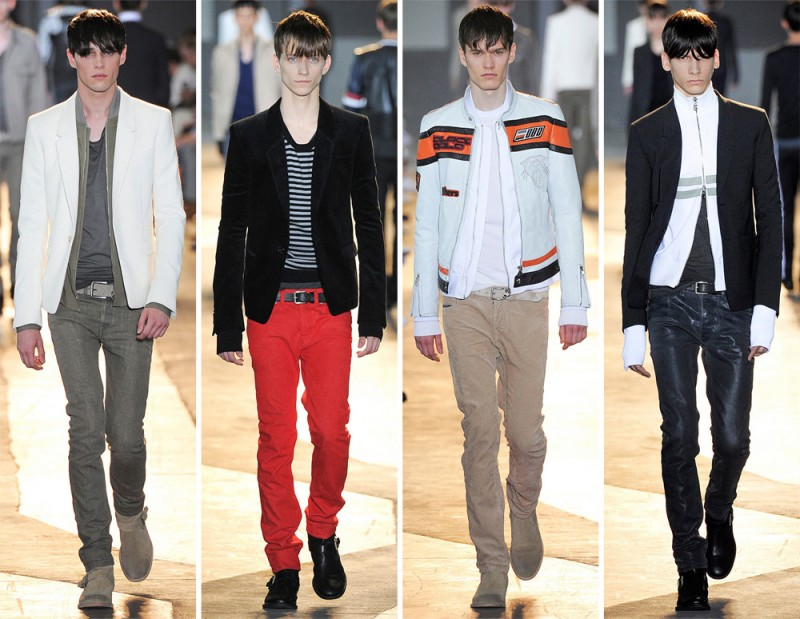 Diesel Spring/Summer 2015: Motocross combined with slim silhouettes was the sport of habit for Diesel's most recent out.
