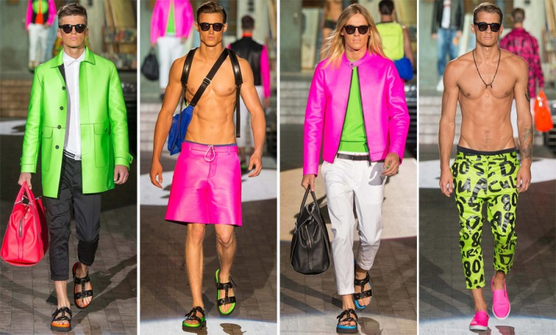 Dsquared2 Spring/Summer 2015: Dsquared2 embraced 1980s pop art for a bold collection perfect for your inner Ken doll.