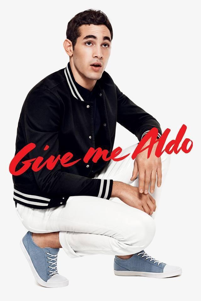 Model Eric Ramos photographed by Terry Richardson for Aldo's spring/summer 2014 campaign.