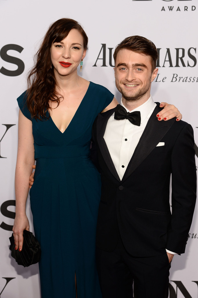 Actor Daniel Radcliffe hits the red carpet with Erin Darke.