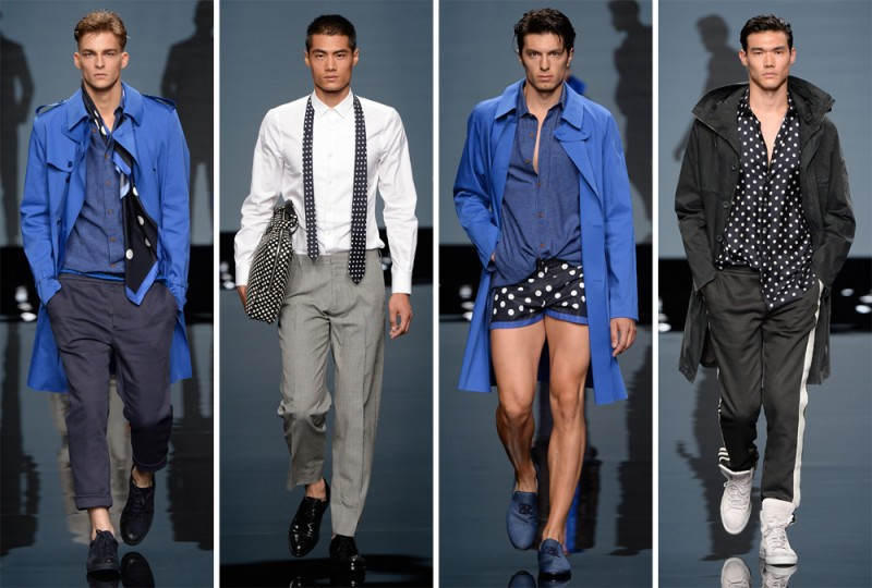 Ermanno Scervino Spring/Summer 2015: Polka dots were at the center of the label's latest collection with various scales offering a playful range.