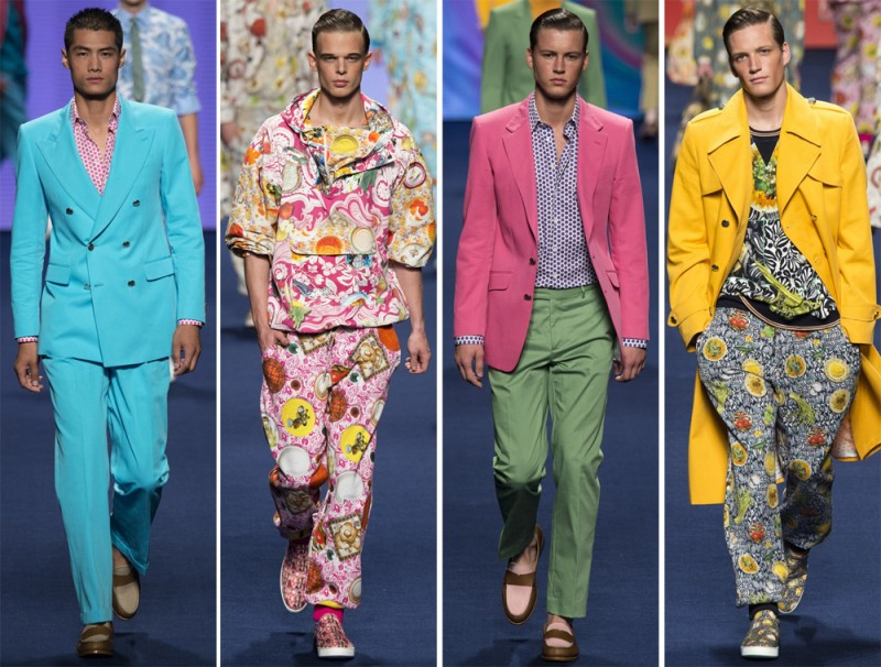 Etro Spring/Summer 2015: The Italian fashion house proved to be the ultimate foodie as Kean Etro sent bold vibrant colors and food-inspired prints down the catwalk.