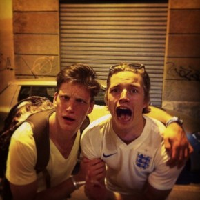 Florian Van Bael and Linus Gustin pose for a silly image.