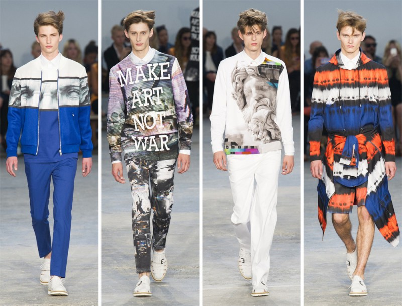 Frankie Morello Spring/Summer 2015: The Italian label wanted to make art not war and that's exactly what they did.