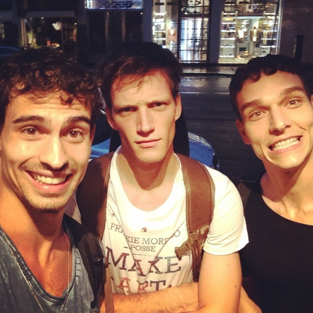 Gabriel Burger, Florian Van Bael and Alexandre Cunha find the time for a quick meet up.