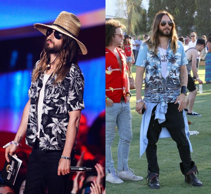 Jared Leto Hawaiian Prada shirts