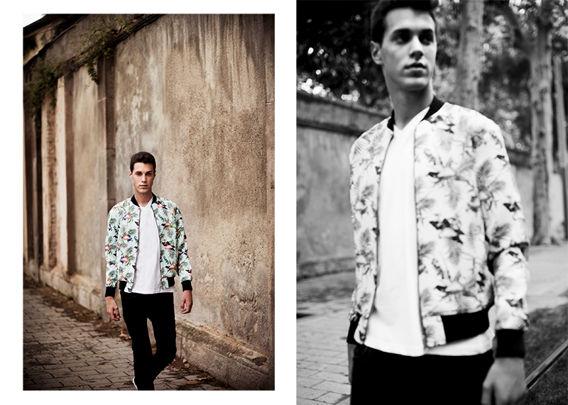 Javier wears Jacket Zara, t-shirt Paul Smith and jeans Diesel.