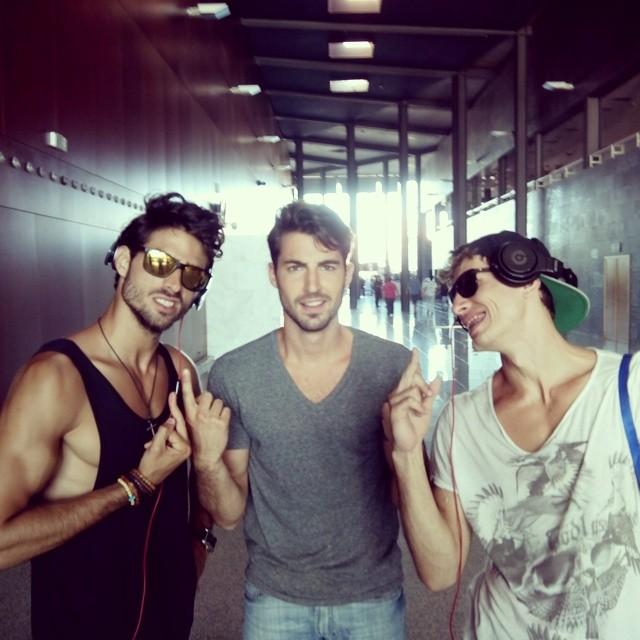 Juan Betancourt, Antonio Navas and Adrian Cardoso pose for a silly image.