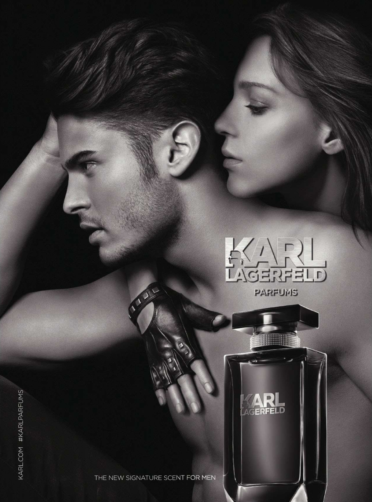 Baptiste Giabiconi Fronts Karl Lagerfeld Fragrance Campaign