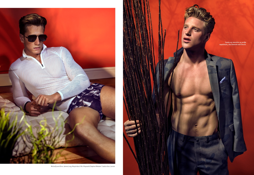 Roger Frampton + Ross Hindmarch 'Keep Cool' in Swimwear for L'Officiel Hommes Hellas