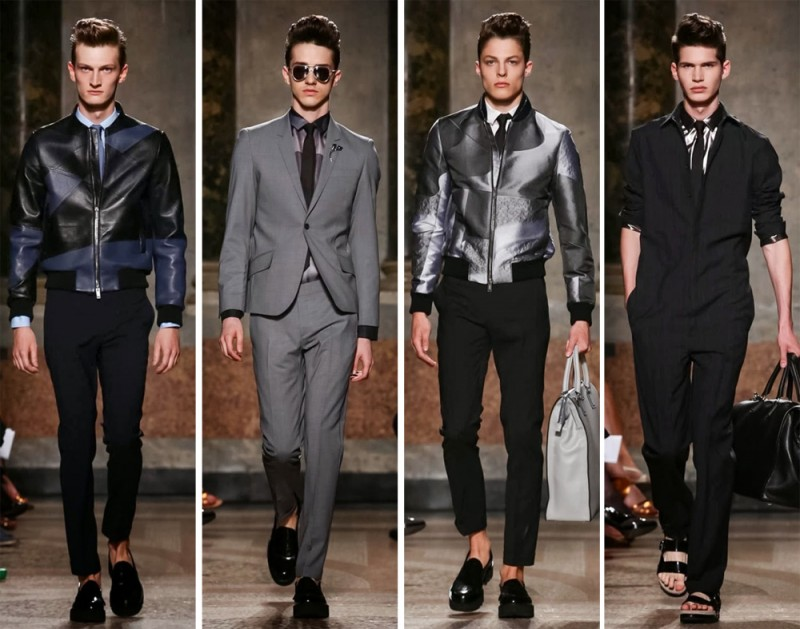 Les Hommes Spring/Summer 2015: Jumpsuits, leather jackets and trim suits delivered a modern view that impressed.